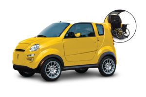 kenguru, the wheelchair-accessible electric vehicle