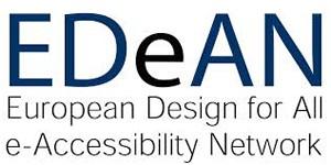 european design for all e-accessibility network logo