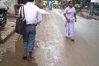 people walking in street india