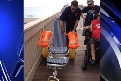ocean wheelchair for paralyzed residents