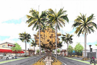 complete streets project concept illustration in north lauderdale