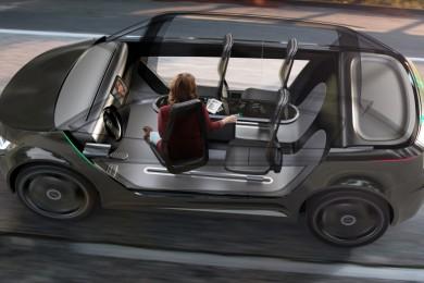 rendering of the interior of a furturistic car