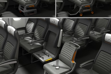 air access - airline seat with a detachable wheelchair