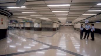 hong kong pedestrian subway interior