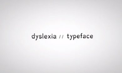 "the words ""dyslexia typeface"""