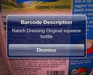 dismiss notification of barcode description