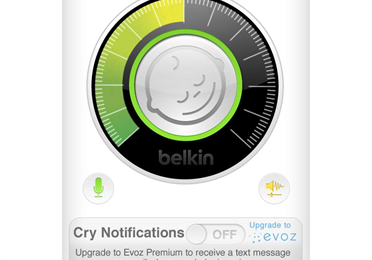 interface of wemo baby the iphone baby monitor app
