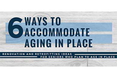 infographics on 6 ways to accommodate aging in place
