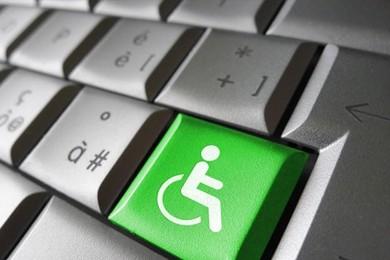 wheelchair user symbol on keyboard