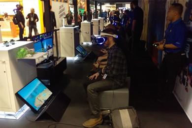 virtual reality demonstration room