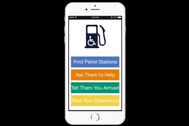 interface of fuelservice app