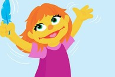 Julia sesame street's first character with autism