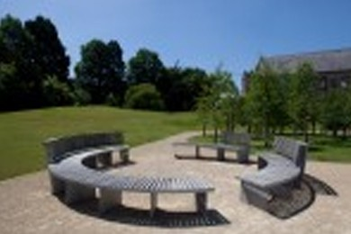 circular outdoor bench