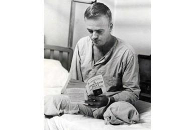 Max Cleland recovering at Walter Reed Army Medical Center, circa 1968.
