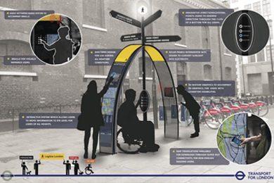 inclusive pedestrian wayfinding system