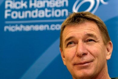 Accessibility advocate Rick Hansen
