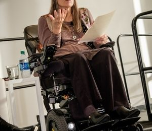 Marca Bristo, founder of Access Living, spoke at a February Forefront panel on making disabilities part of the diversity conversation for nonprofit boards.