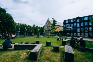 Folkets Park, or the People's Park, is a small public space in Nørrebro, Copenhagen, a northern, diverse neighborhood.