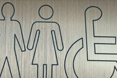 Bathroom accessibility sign