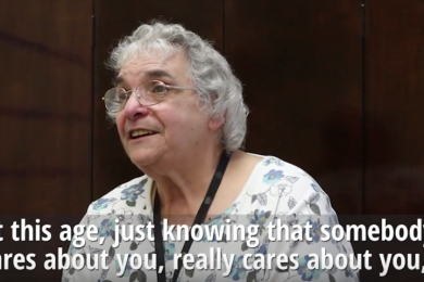 Elderly women, Rose, from Western New York sharing her opinion.