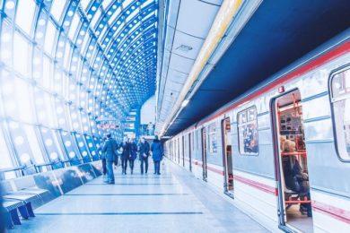 interior of public transit station