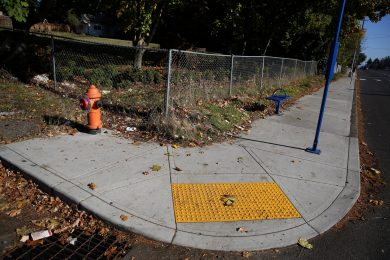 A curb ramp pictured in east Portland in 2013