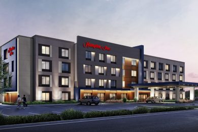 A rendering of the Hampton by Hilton hotel planned for a site near Amherst's Northtown Center. The Amherst IDA on Friday approved tax breaks for the $14.4 million hotel by Uniland Development Co.