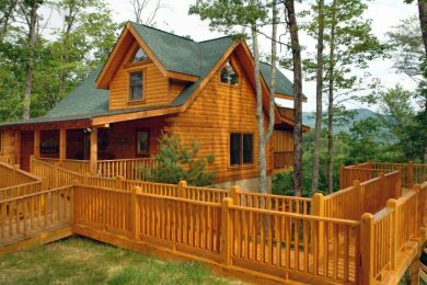 Log resort cabin