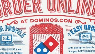 Dominoes pizza box