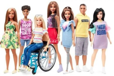 New Barbie inclusivity line, with a doll that uses a wheelchair and a doll with a removable prosthetic leg