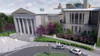 Rendering of the Cincinnati Art Museum's New Ramp
