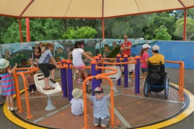 Carousels such as this one are inclusive of people of all abilities and ages.