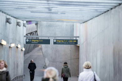 The new Sinsen Metro station in Oslo.