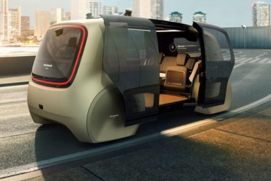 Sedric, Volkswagens' self driving concept pod, have doors that are better for opening curbside.