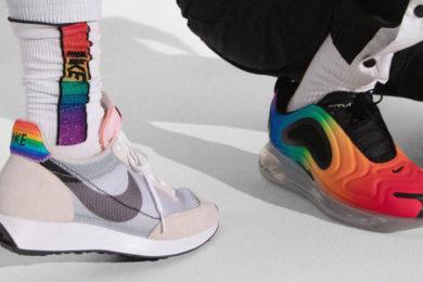 rainbow-printed Nike sneakers