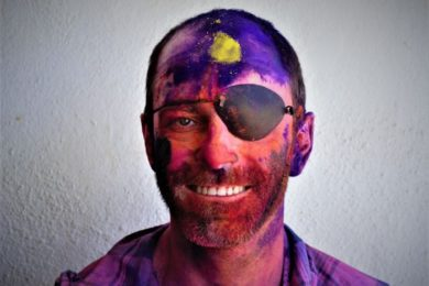 Mr Emerson after attending Holi Festival celebrations in India.