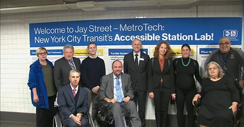 Professionals at the accessible station lab