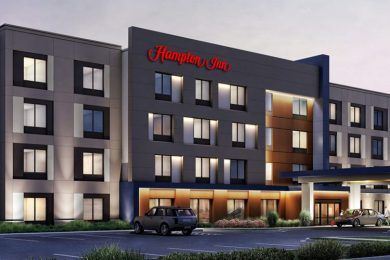 Rendering of the Hampton Inn by Hilton