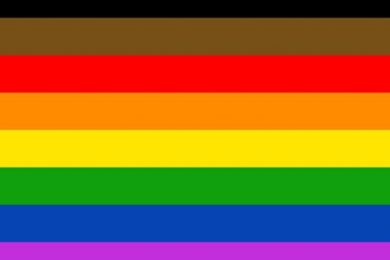 The Philadelphia pride flag designed by More Color More Pride