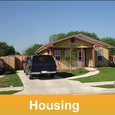 Housing: exterior view of a suburban house