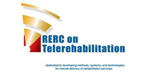 The Rehabilitation Engineering Research Center on Telerehabilitation logo