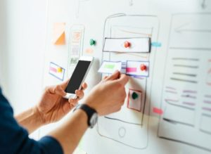Designing an iPhone interface on a white board